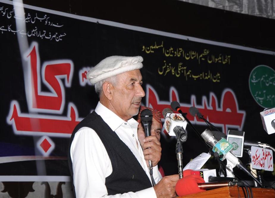 سابق صوبائی وزیر حاجی اکبر تابان خطاب کرتے ہوئے
