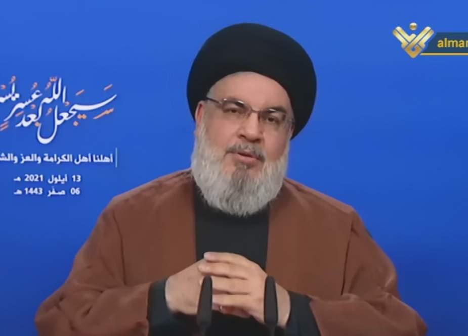 Sayyed Nasrallah, announces arrival of first oil tanker.jpg