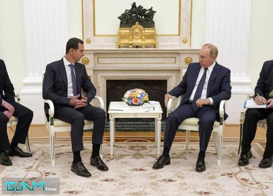 Putin, Assad Meet in Moscow, Praise Mutual Anti-terrorism Achievements