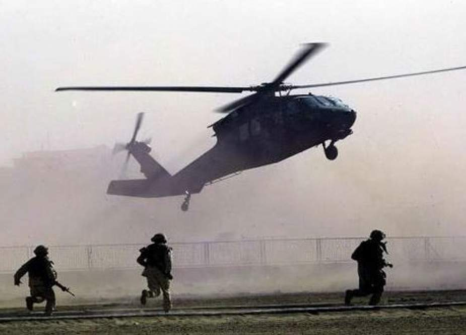 US troops have carried out an airdrop on the outskirts of Hasaka city.jpg