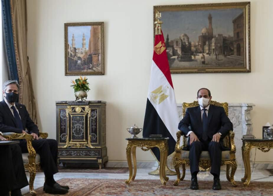 Antony Blinken, US Secretary of State with Egyptian President Abdel Fattah el-Sissi.jpg