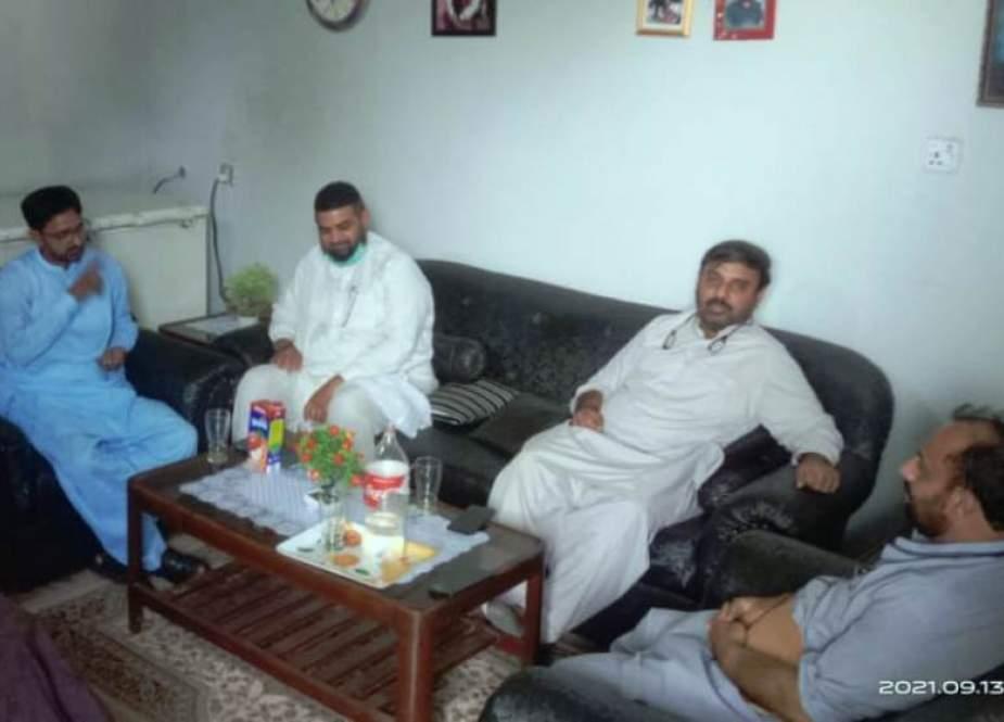 ایم ڈبلیو ایم کے مرکزی سیکرٹری سیاسیات اسد عباس نقوی کی سلیم عباس صدیقی سے ملاقات، عیادت بھی کی