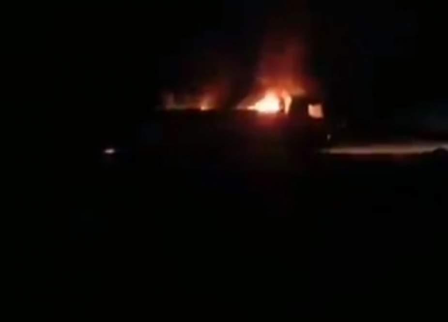 غارة جوية تستهدف الحشد الشعبي على حدود العراق وسوريا