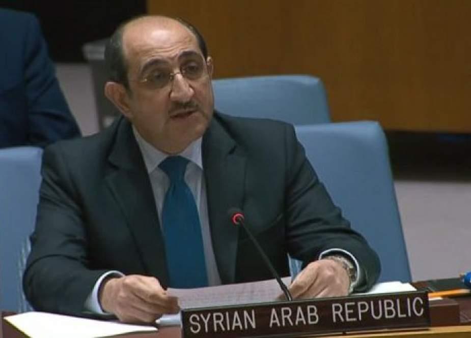 صباغ يؤكد على ضرورة رفع الحصار على سوريا