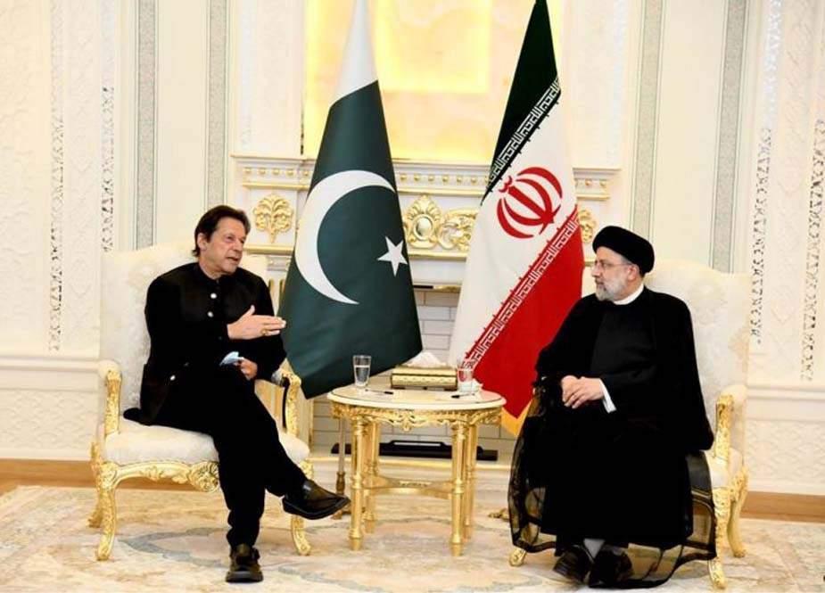 وزیراعظم عمران خان کی ایران کے صدر آیت اللہ ابراہیم رئیسی سے ملاقات