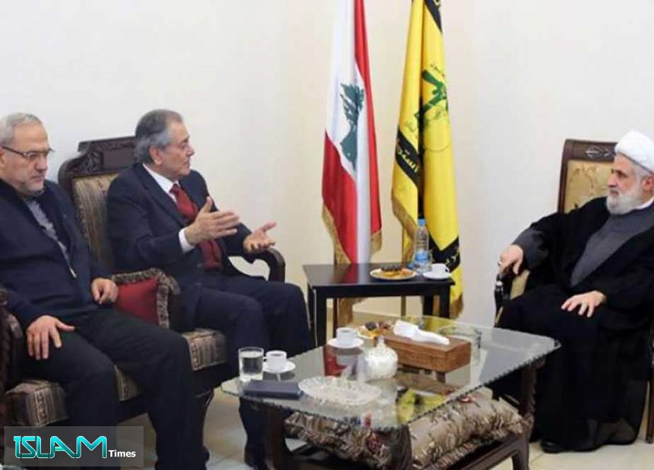 Hezbollah Deputy SG Thanks Syria's Help to Deliver Iranian Fuel to Lebanon