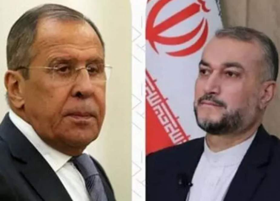 Hussein Amir-Abdollahian, Iranian Foreign Minister with Russian counterpart Sergei Lavrov.png