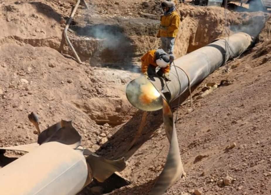 بعد تعرضه لاعتداء.. بدء عمليات إصلاح خط الغاز العربي في سوريا