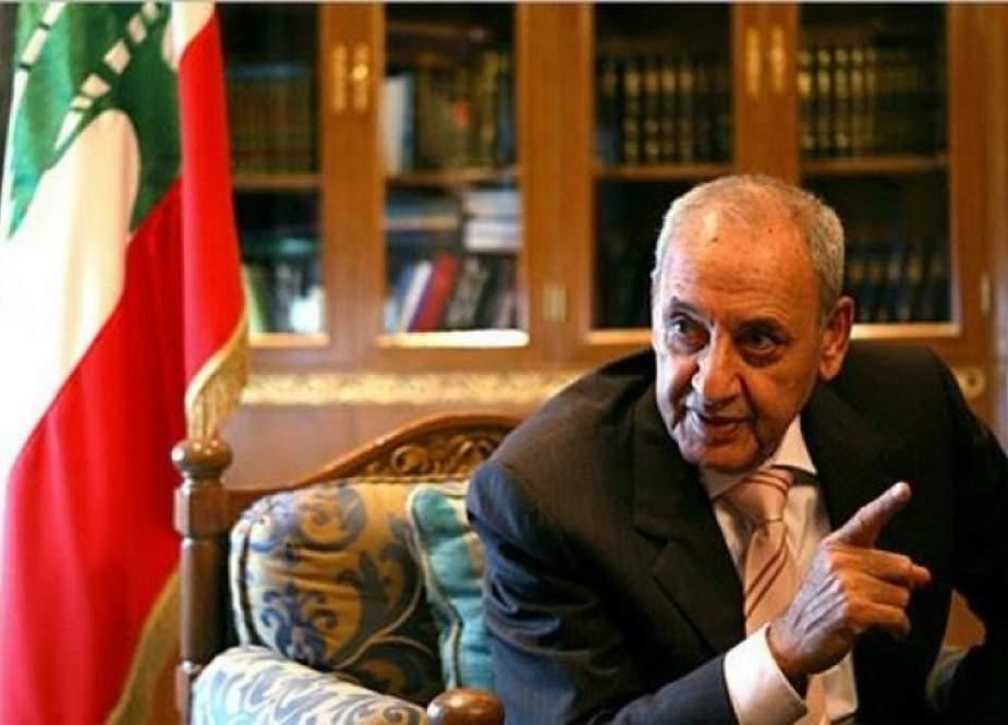 """نبيه بري: إبرام إسرائيل عقود تنقيب بالمنطقة البحرية """"نقض لاتفاق الإطار"""""""