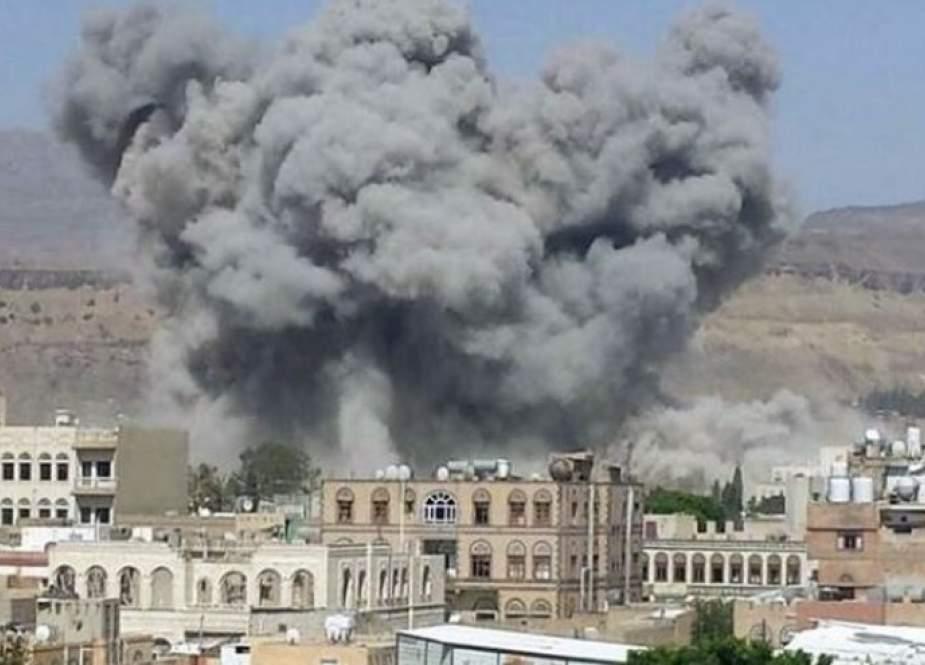 استشهاد سبعة يمنيين بينهم ثلاثة أطفال بغارة للعدوان بشبوه