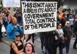 میلبرن، کورونا لاک ڈاؤن کیخلاف شہریوں کا احتجاج