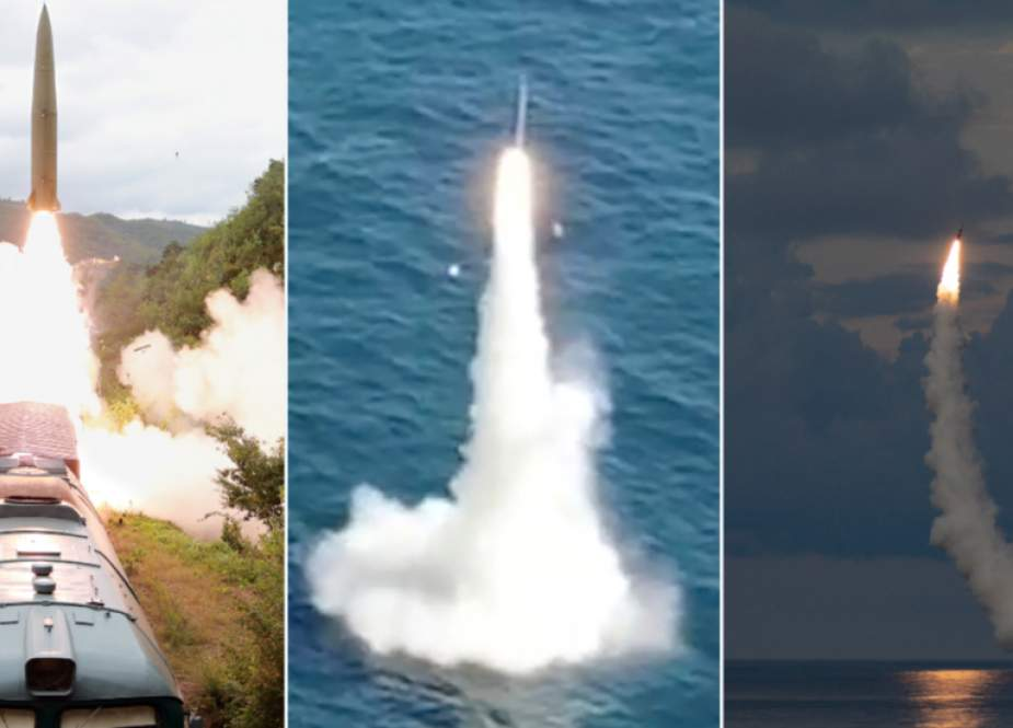 Missile tests conducted by North Korea.