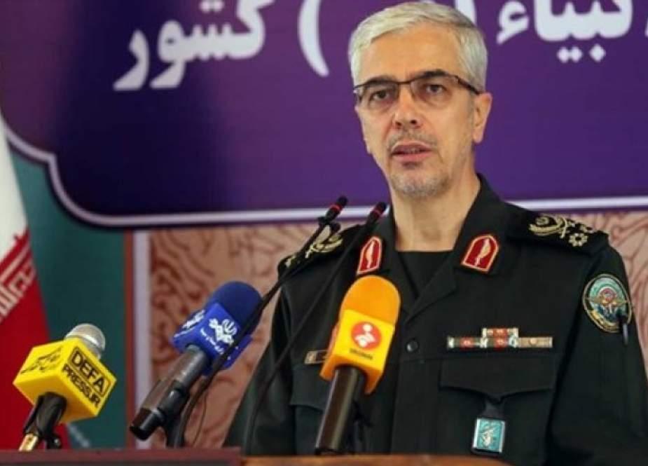 اللواء باقري يحذر الكيان الصهيوني من مغبة اي عدوان على مصالح ايران