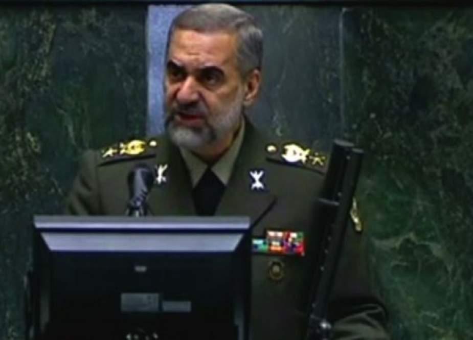 وزير الدفاع الايراني: سنرد بقوة على أي حماقة للعدو