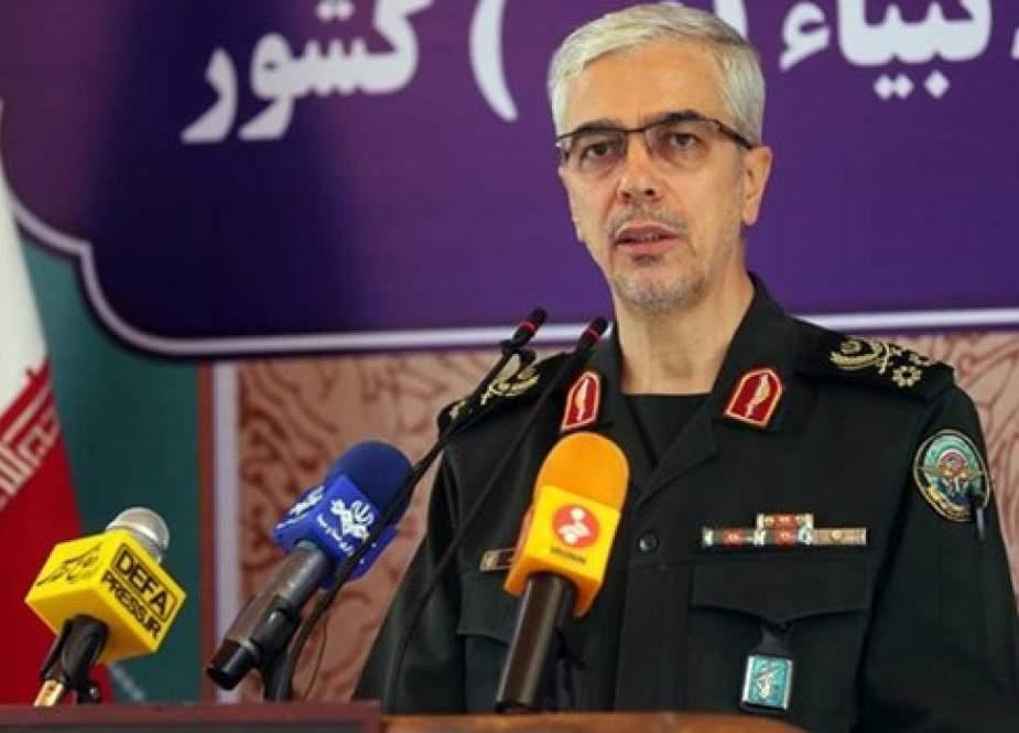 اللواء باقري يبعث برسالة للقوات المسلحة الإيرانية