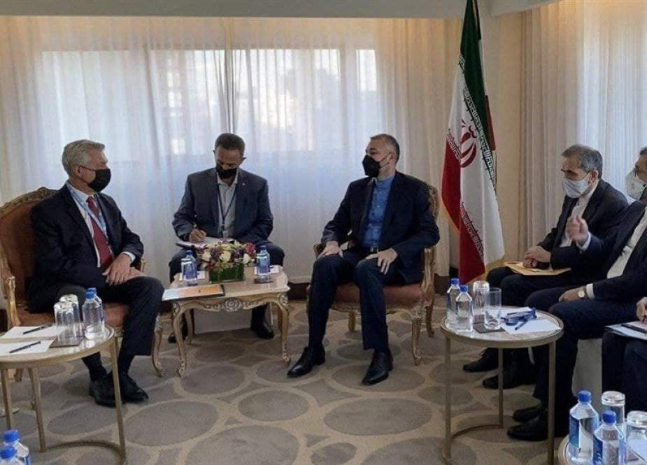 Hossein Amir Abdollahian. Iranian FM meeting with UNHCR commissioner, Filippo Grandi in New York