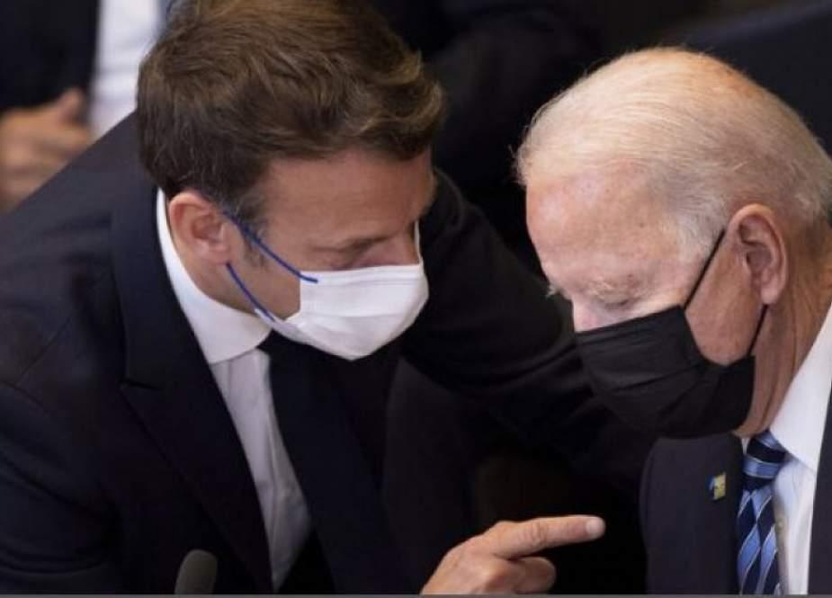 باريس: ماكرون يأمل من بايدن توضيحا بشأن ''أزمة الغواصات''