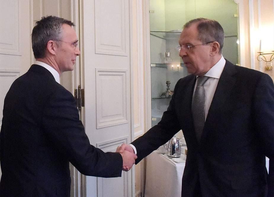 Sergey Lavrov NATO-nun Baş katibi ilə görüş keçirib