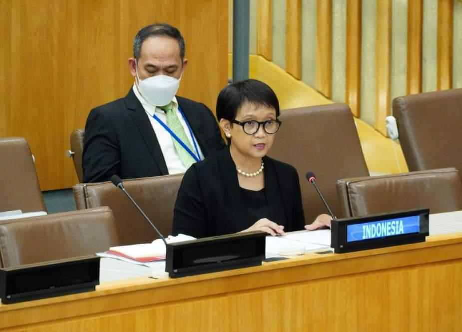 Retno Marsudi, Menlu Indoneisa dalam Sidang ke-76 Majelis Umum PBB di New York, Amerika Serikat.jpg