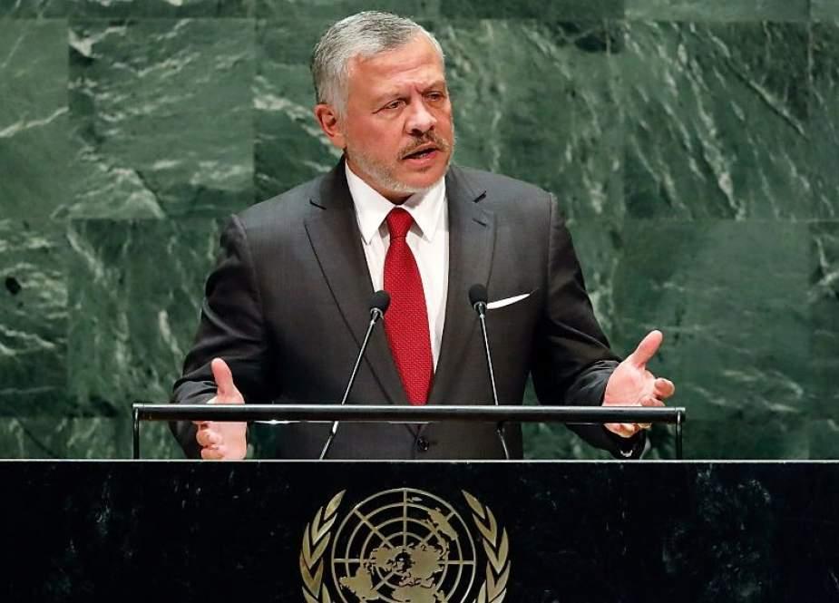 Abdullah II, Jordan's King addressing the UN General Assembly.jpg
