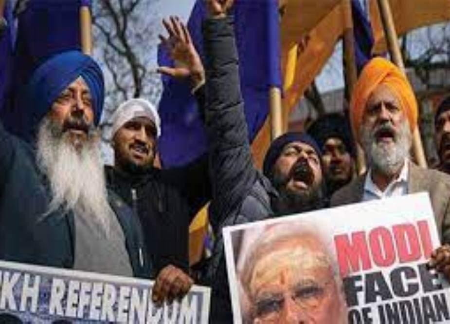 بھارتی وزیراعظم کی امریکی صدر سے ملاقات کے موقع پر وائٹ ہاؤس کے باہر مظاہرہ