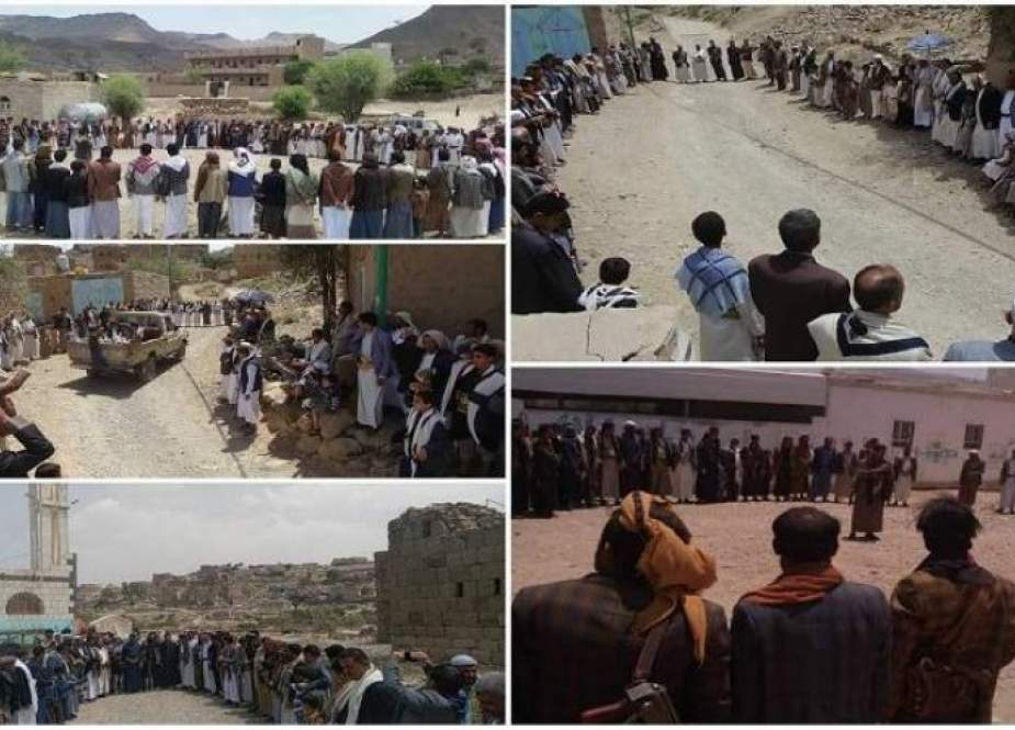 وقفات تضامنية في صنعاء تبارك انتصارات الجيش واللجان الشعبية