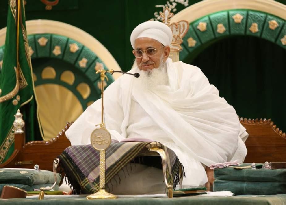 بوہرا کمیونٹی کے سربراہ مفضل سیف الدین کی کراچی آمد
