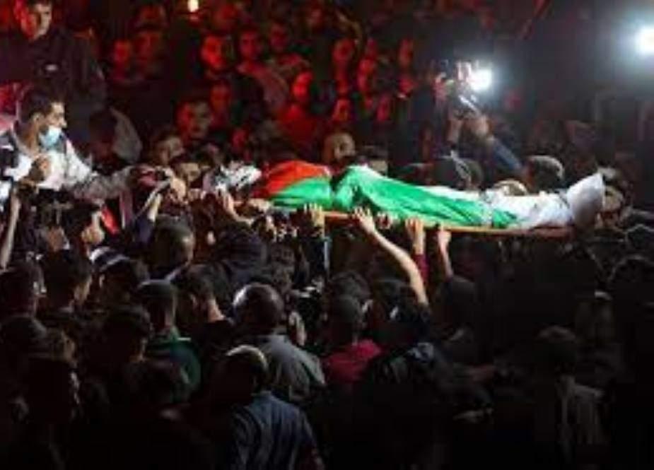 مقبوضہ مغربی کنارے پر اسرائیلی فورسز کی فائرنگ سے 4 فلسطینی شہید