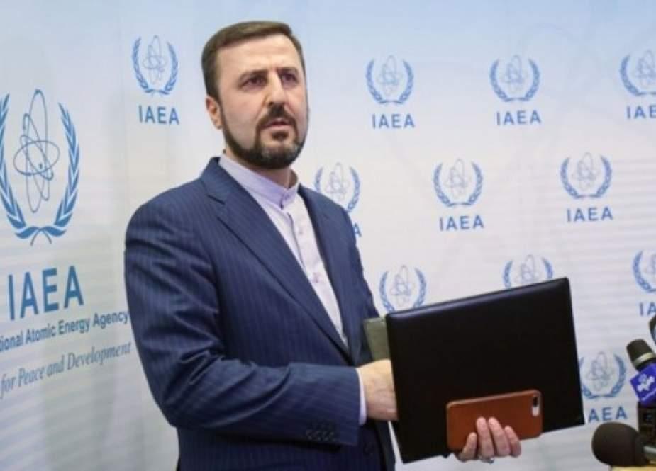 غريب آبادي يعلق على تقرير الوكالة الذرية