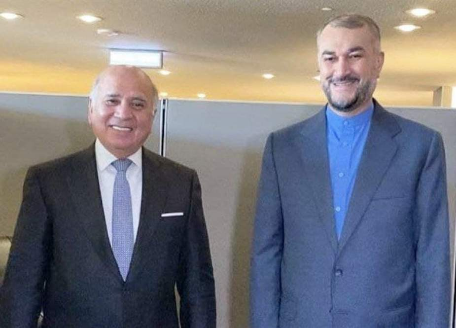 Iranian Foreign Minister Hossein Amirabdollahian and his Iraqi counterpart Fuad Hussein.jpg