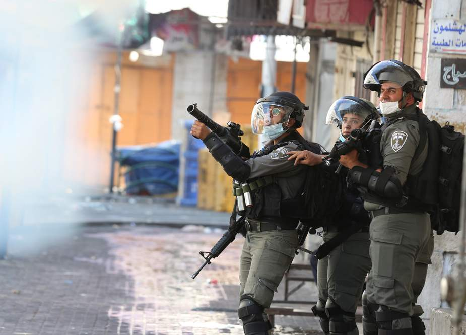 Israeli occupation forces firing teargas at Palestinians in West Bank.jpg