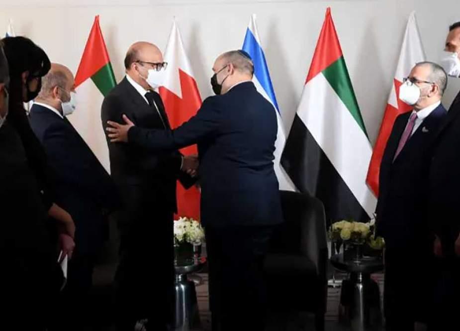 Bahraini FM, Emirati Official meet Zionist PM ahead Of UN speech.jpg