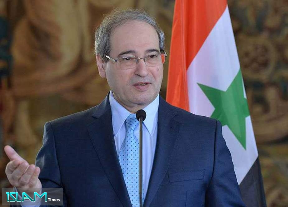 Syria neither Fears 'Israel' nor Those behind It: FM Mikdad