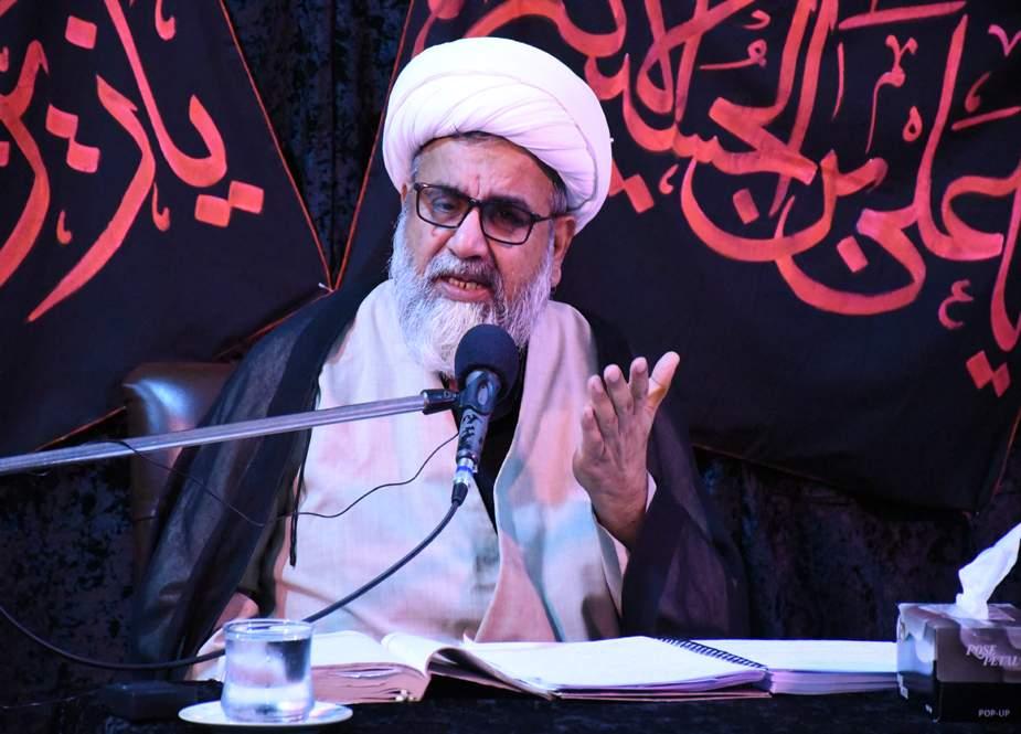 امام حسین (ع) کی مظلومیت پر عزاداری نہ ہوتی تو دین کا نشان مٹ گیا ہوتا، علامہ ناصر عباس جعفری