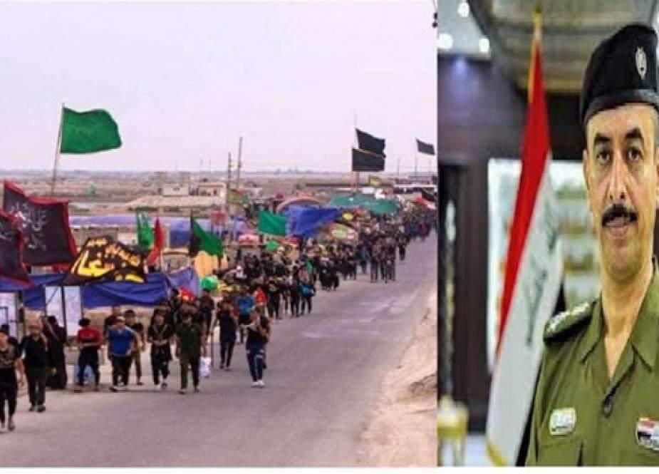 در ایام اربعین هیچ مورد نقص و کاستی امنیتی در عراق دیده نشده است
