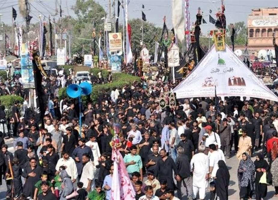 ملک بھر میں چہلم شہدائے کربلا کے جلوس