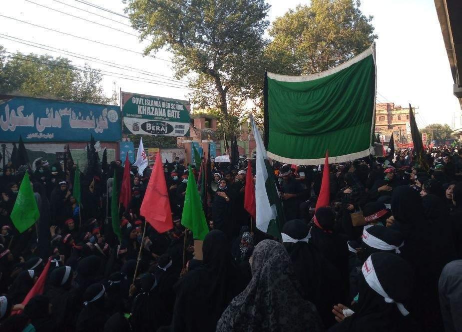 لاہور میں تاریخی اربعین واک، ہزاروں عزادار سڑکوں پر آگئے، لبیک یاحسینؑ کی صدائیں