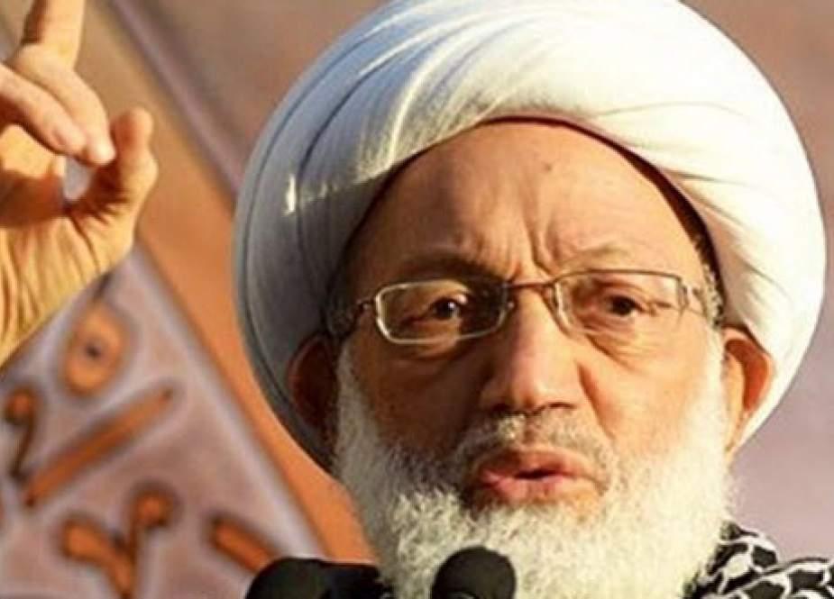 رهبر معنوی انقلاب بحرین در واکنش به سفر لاپید به منامه: خدا به داد مردم برسد