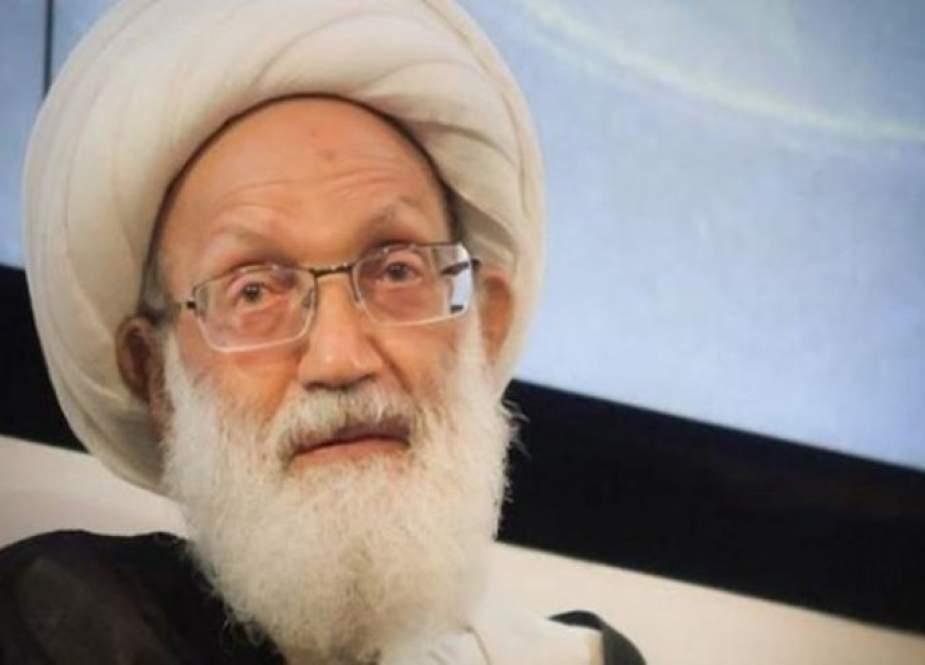 اية الله قاسم: افتتاح سفارة الاحتلال في البحرين عار وجناية للحكام