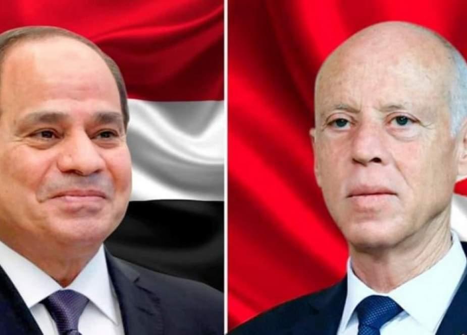 السيسي يؤكد دعم بلاده لإجراءات قيس سعيد