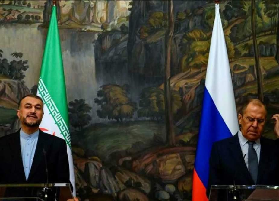 Iranian FM Hossein Amir Abdollahian and Russian Foreign Minister Sergey Lavrov.jpg