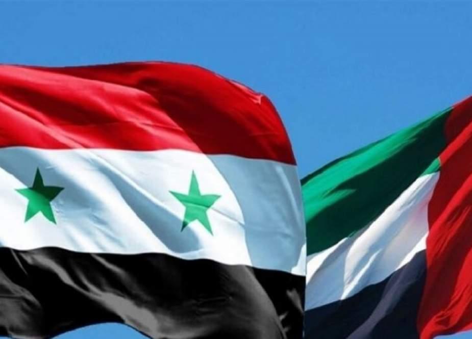 الإمارات تأمل تطوير العلاقات التجارية والاقتصادية مع سورية