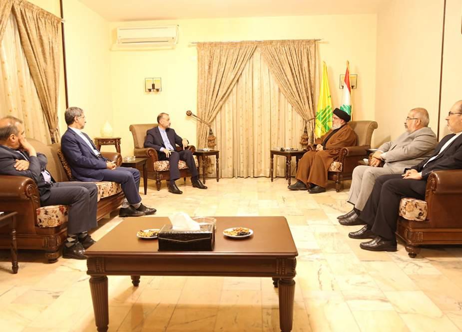 Sayyid Nasralah Menerima Amir Abdollahian, Terima kasih Iran atas Dukungan