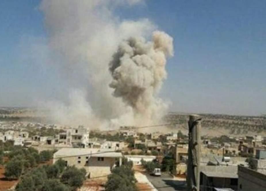 إصابة ثمانيني بقصف إرهابي على قرية في حماة