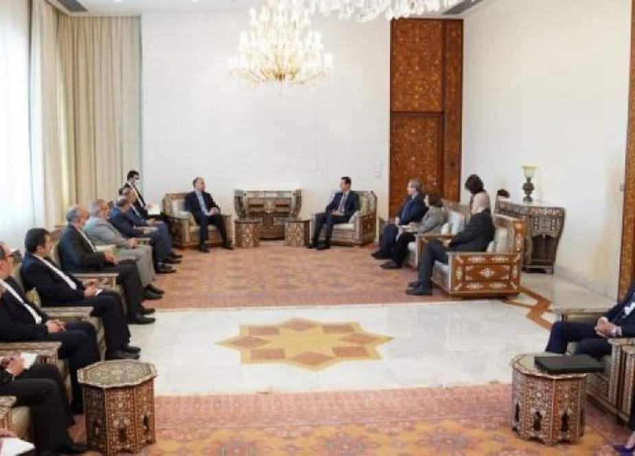 الأسد وعبد اللهيان.. تأكيد ايراني على الدعم الكامل لسوريا