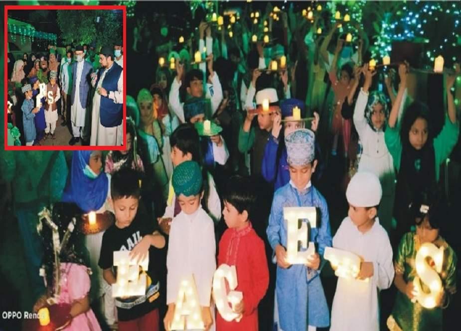 لاہور، منہاج القرآن وومن لیگ کے زیراہتمام بچوں کی مشعل بردار میلاد ریلی