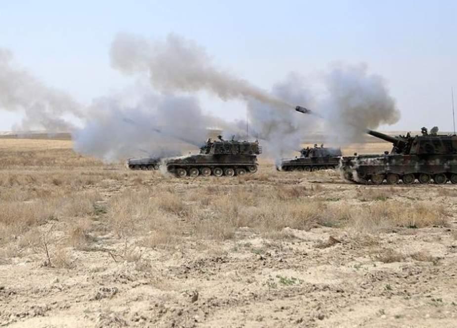 القوات التركية تكثف اعتداءها على محيط عفرين وإعزاز