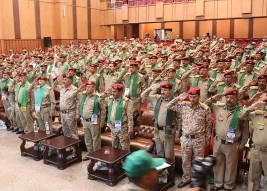 القوات المسلحة اليمنية تقيم فعالية تحت شعار''أشداء على الكفار''