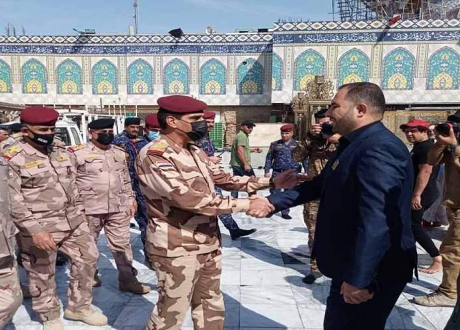 وفد امني يصل سامراء لمتابعة تأمين الحماية لزوار الإمام العسكري (ع)