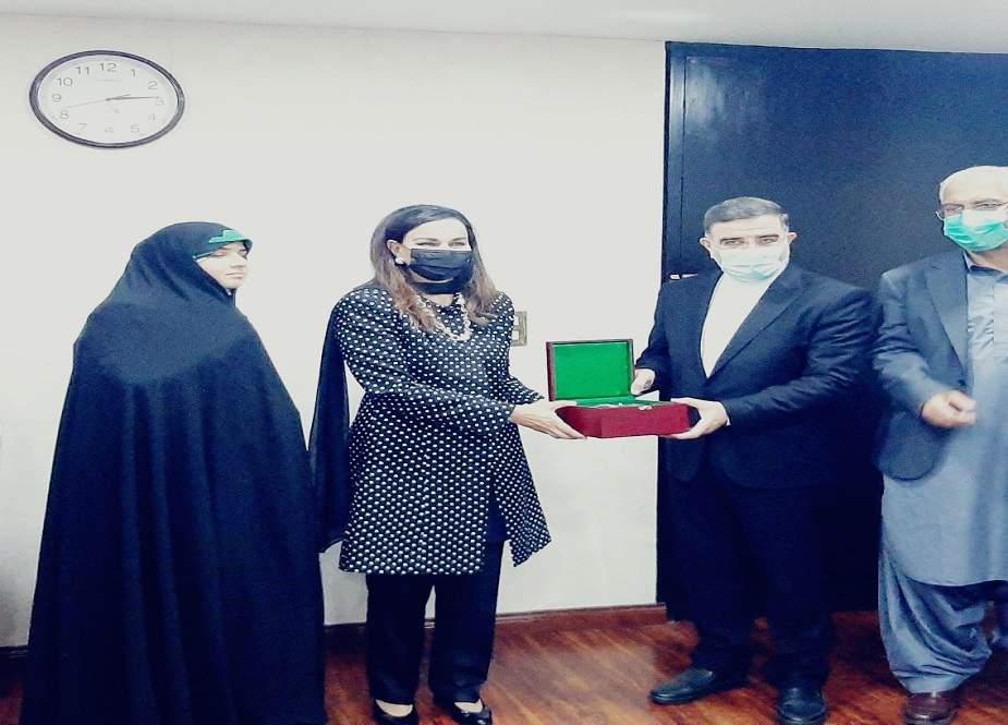 ایران کے پارلیمانی وفد کی سینیٹر شیری رحمان سے ملاقات